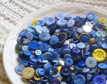 Blaue Knöpfe Viel Masse Liefert, Alten Und Neuen Kinder Basteln, Nähen Und  Kunst,