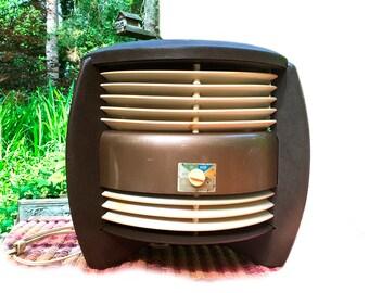 Vintage Floor Fan / Fasco Hassock 3 Speed Fan CDX12 / Retro Shop / Retro Decor / Mid Century Industrial / Eames Atomic Era