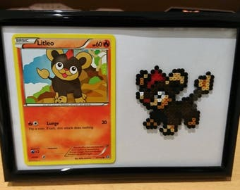 Pokemon Litleo Frame with Litleo Card