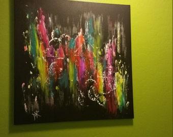 "Abstract mixed media painting ""Electrofusion"""
