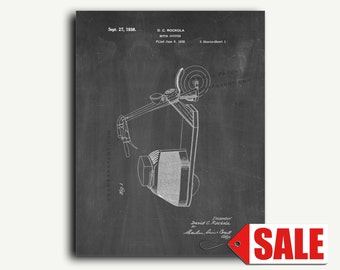 Patent Print - Motor Scooter Patent Wall Art Poster