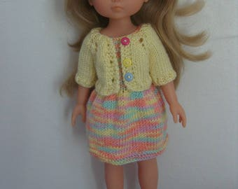 Clothing for the sweethearts doll, dress and Cardigan knitting pattern