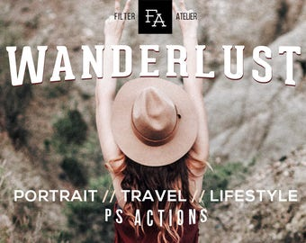 Wanderlust Photoshop Action - author portrait actions for travel and exploration photography, ps actions, Adobe Photoshop CS4, CS5, CS6, CC