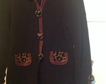 Retro Cotton and Chenille Sweater