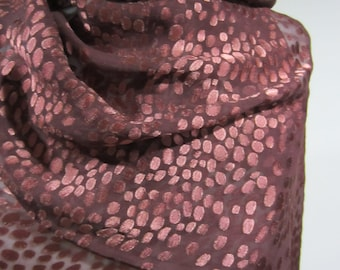 Dots Bouquet (Deep Violets) Silk/Rayon Scarf