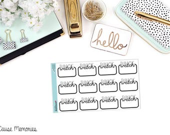 BINGE WATCH Functional Paper Planner Stickers