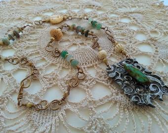 Molten Solder Necklace