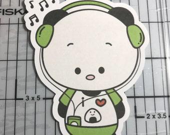 IPod Music Panda Planner Die Cut