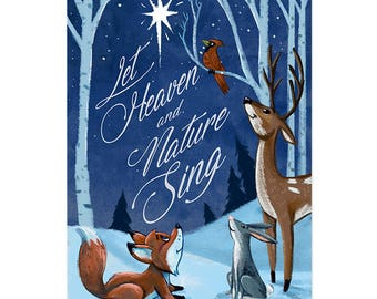 Let Heaven and Nature Sing Holiday Card