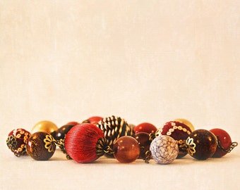 Macro Photograph Multi-Colored Beads - Together - 18x24 fine art photograph featured in 2010 BlogHer Voices of the Year