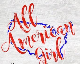 American Girl svg - Little Girls 4th of July svg - Little Girls Fourth of July SVG - Girls 4th of July Svg - Girls Fourth of July svg, dxf,