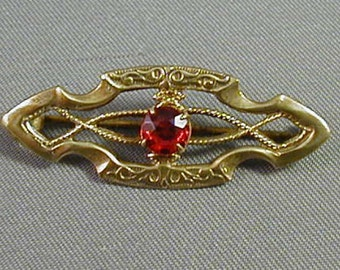 Small Victorian Gold filled Pin Brooch