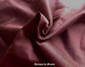 Bole Dark Brown Dupioni Art Silk Fabric, Reddish Brown Indian Art Silk Dupioni Fabric By The Yard, Flower Girl Dress Material, Jacket Fabric