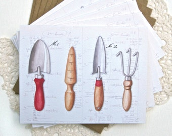 GARDEN TOOLS Note Cards