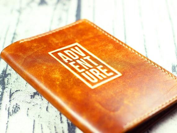 Abenteuer Pass Hülle Leder Brieftasche Pass Reise Brieftasche