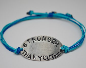 Stronger than you think bracelet, You are stronger than you think bracelet, Inspirational bracelet