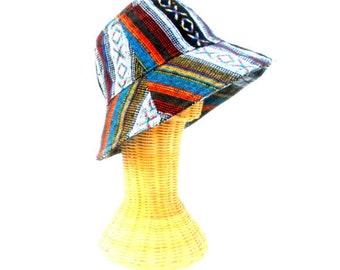 Bucket Hat Boho Hat Hemp Hat Hippie Bucket hat Hipster hat Bohemian hat Sun Hat gift