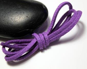 Lavender - 5 m suede effect suede 3 x 1, 5mm