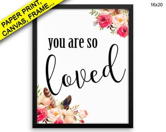 You Are So Printed Poster You Are So Framed You Are So Typography Art You Are So Typography Print You Are So Printed Poster You Are So