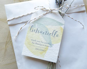 Limoncello Gift Tags - Bridal Shower or Wedding Shower Favor Tags