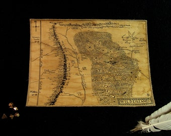 MTO. MEDIUM, handdrawn, realistic map. Wilderland part of Middle Earth. (Please, read description). Handmade.