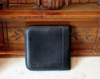 Dads Grads Sale Coach Black Leather CD DVD Case- EUC