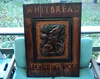 Antique English Pub Sign Whitbread