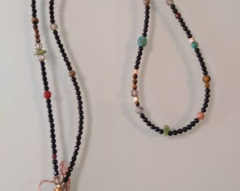 Hand Made Black Onyx Stone Beaded Tribal Necklace