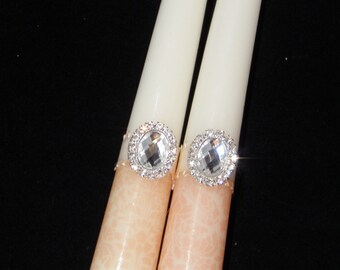 Pair Tall Tapered Candles suitable for home decor, Wedding, Anniversary, Christmas