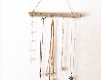 OOAK Jewelry Holder Driftwood Jewelry Organizer Bohemian wall hanging Custom Jewelry Storage Boho wall Decor Hanging Jewelry Display  sc 1 st  Etsy & Boho jewelry storage | Etsy