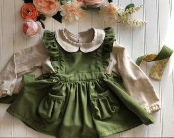 Ginger pinafore 2T