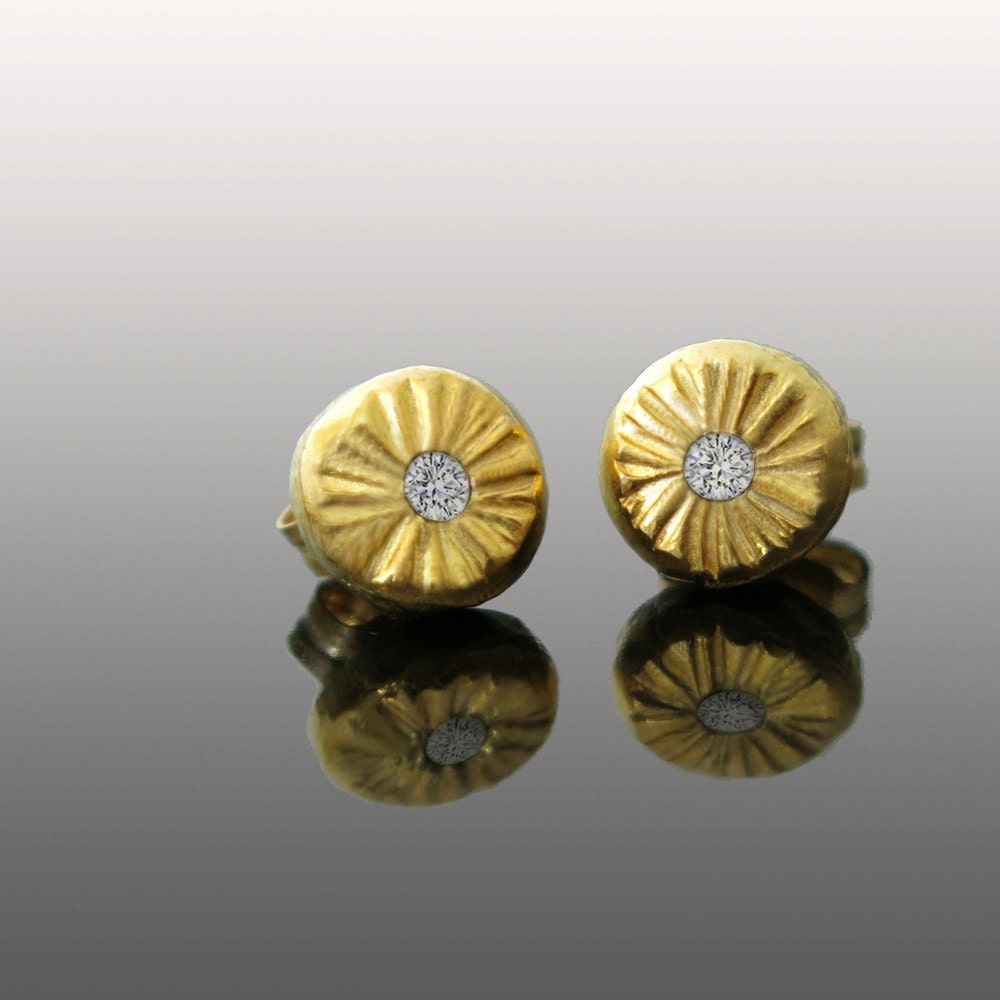 Diamond earring Gold stud earring Stud earring gold Bridal
