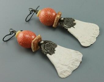Rustic Earrings, Boho Earrings, Rustic Boho Earrings, Hippie Earrings, Earthy Earrings, Statement Earrings, #597-11