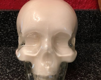 Recycled Crystal Head Vodka Bottle Skull Candle