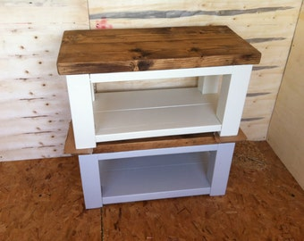 Chunky rustic 4 leg reclaimed timber Coffee table Painted
