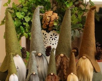 Gnomes nordiques ensemble grand et Mini, HADMAR, sorciers, Gnome nordique, elfe, elfes, Gnomes scandinaves, Nisse, Tomte, Woodland, Gnome maison