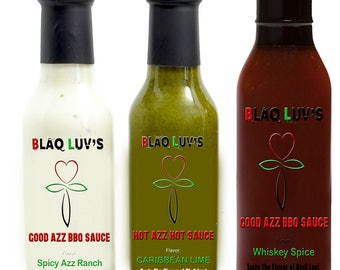 BlaQ Luv's Condiments!  6.99 each 15.00 for all 3