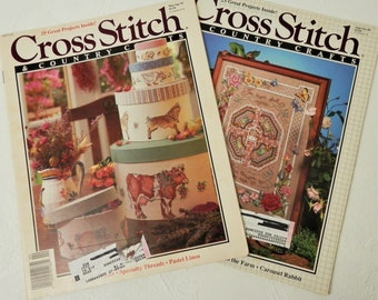Two vintage cross stitch and country crafts magazines many two vintage cross stitch and country crafts magazines diy gifts wise men horse easter rabbit victorian decor marapr 91 septoct 89 negle Choice Image