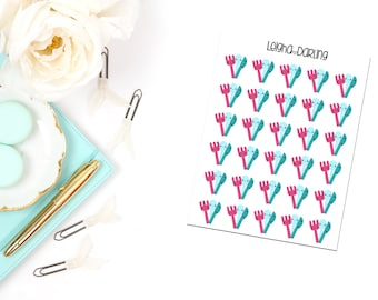 Kawaii Meal Planning Planner Stickers