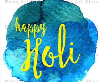 Holi Greeting Cards - Hindu - Indian Festivals Printables - Holi Hai - Holi Celebrations Prints - Instant Download -DIY Greeting Cards-Hindi