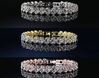 CHANTELLE - Crystal Wedding Bridal Bracelet