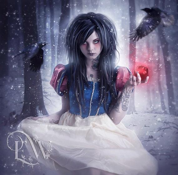 Gothic Snow White art print