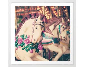 Carousel horse, girl nursery decor girl, nursery wall art girl, toddler girl room decor, girl nursery art,nursery prints, framed wall art