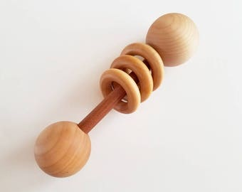 Baby Rattle, Wooden Rattle, Organic Baby Toy, Wooden Baby Toy, Eco Friendly Baby Toy, Montessori Rattle, Wood Baby Rattle, Baby Shower Gift