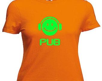 Pub dj ladies lady fit t shirt 13 colours size 6 - 16
