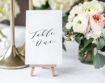 Editable Template - Soft Calligraphy Table Numbers