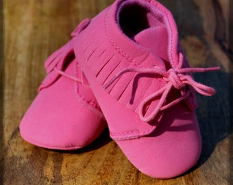 Baby Pink Moccasins made with PU Leather for your stylish Babe