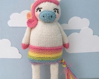 Amigurumi Knit Unicorn Pattern Digital Download
