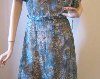 Vintage 60's Dress Vintage Clothing Women's Dress  Afternoon Day Frock NOS 1950's Summer Floral