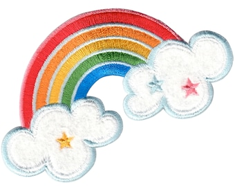 Rainbow Iron-On Patch Applique Kids / Baby